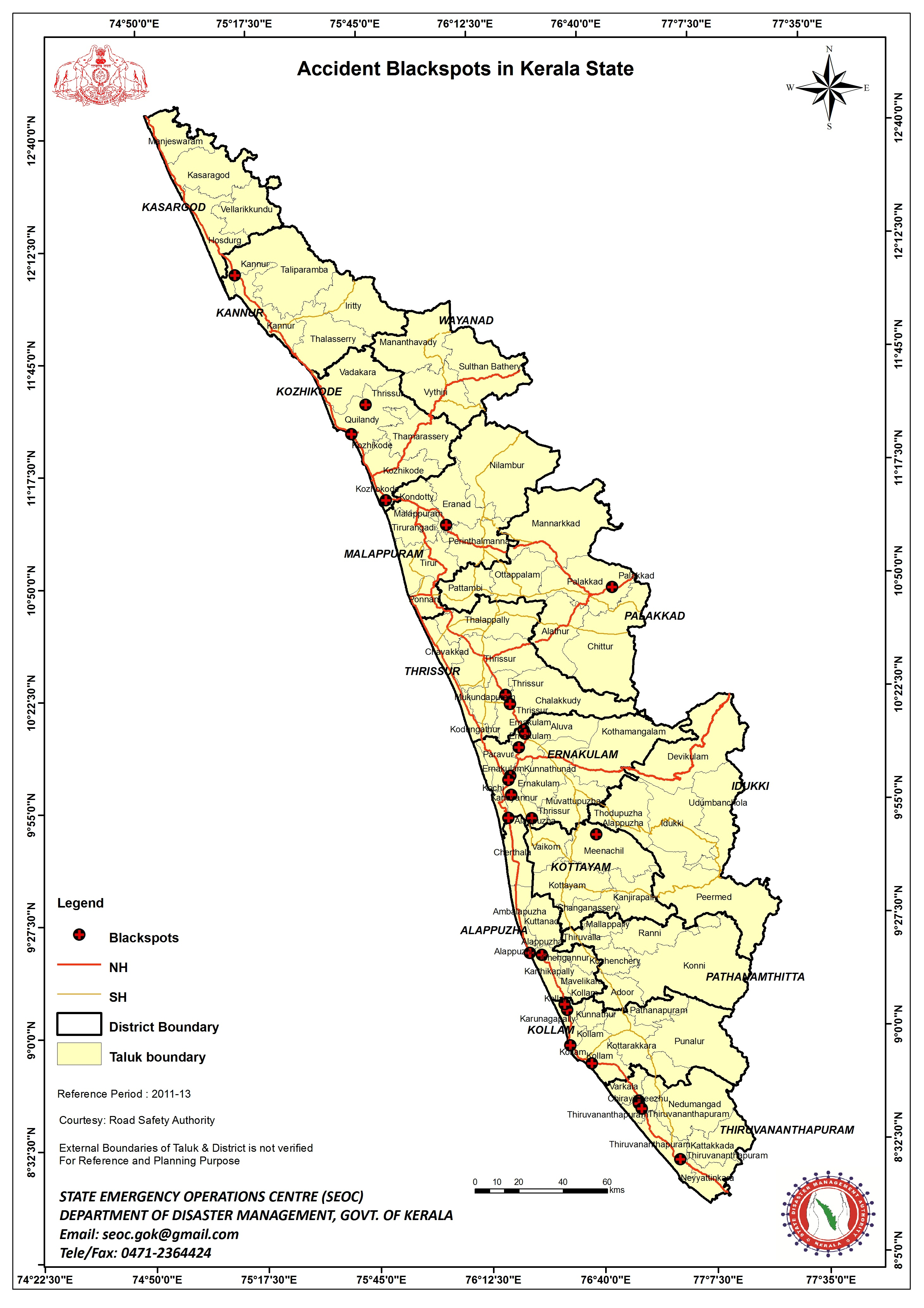 Maps – Kerala State Disaster Management Authority